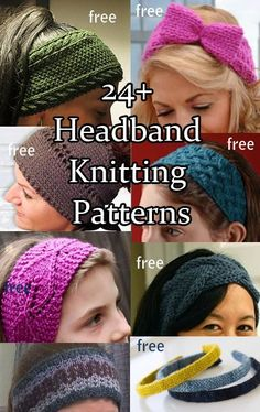 Headband Ear Warmer Head Wrap Knitting Patterns