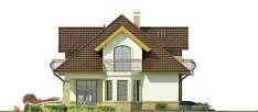 Elewacja lewa projektu Iliada III Home Fashion, Cabin, Mansions, House Styles, Villas, Home Decor, Decoration Home, Room Decor, Fancy Houses