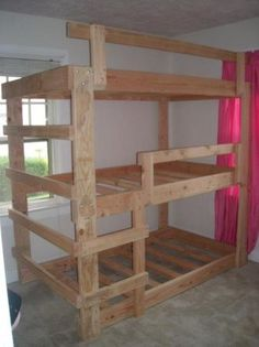 Triple bunk beds. This guy on Portland cl sells these for a fortune. I think it could be built pretty easily.