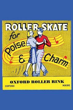 Stickers were issued by roller rinks across the United States. Many were stock designs imprinted with the local skating facility. This was for the Oxford Roller Rink in Oxford, Maine.
