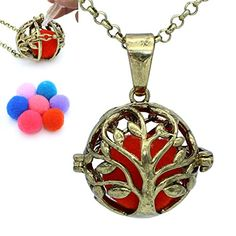 Aromatherapy Fragrance Essential Oil Diffuser Tree of Life Bronze Locket Pendant Necklace with Chain Essential Oil Diffuser, Essential Oils, Diffuser Necklace, Tree Of Life, Aromatherapy, Fragrance, Essentials, Bronze, Pendant Necklace