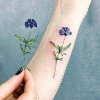 Colorful Flower Tattoo (19)