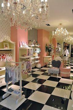 design de interiores para lojas 12 Boutique Decor, Children's Boutique, Boutique Interior, Boutique Design, Shop Interior Design, Retail Design, Store Design, Kids Store, Baby Store