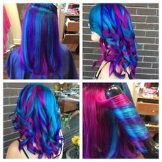 115 Extraordinary Blue and Purple Hair to Inspire You blue purple hair color ideas - Hair Color Ideas Love Hair, Gorgeous Hair, Blue Purple Hair, Purple Ombre, Dark Purple, Light Purple, Dark Red, Coiffure Hair, Twisted Hair