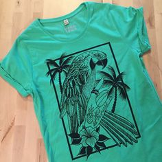 New parrot t-shirt live in the shop!