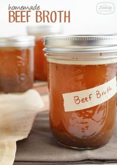Recipe: Homemade Beef Broth (in the crock pot!) - Family Gone Healthy | Family Gone Healthy