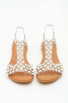 pearl studded sandals {my kinda studs}
