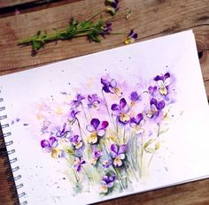 Beauty Flowers in Watercolor Paintings By: Russian Artist Elena