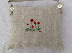 Poppy embroidery, T& Linen