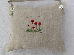 Poppy embroidery, T& Linen