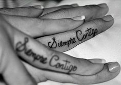 couple tattoos.. in Spanish, ahh yes!