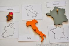 All printables are FREE.  There are 43 Outlines and Contours of European Countries