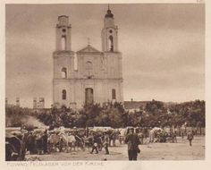 Artillery camp in front of church, Kaunas, Lithuania, 1915.  http://www.eventumgroup.lt/eng/News/index/