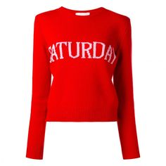 Alberta Ferretti's Days-of-the-Week Sweater Is Taking Over Instagram: ALBERTA FERRETTI Saturday jumper. |      Covetuer.com