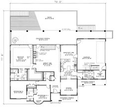 Image Of Large First Floor For House Plan 055D-0035