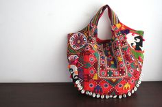 Patterned ethnic bag