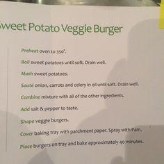 Sweet potato veggie burger 2