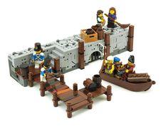 Bateau Pirate Lego, Lego Pirate Ship, Lego Ship, Lego City, Legos, Chateau Lego, Lego Burg, Lego Minifigure Display, Lego Boards