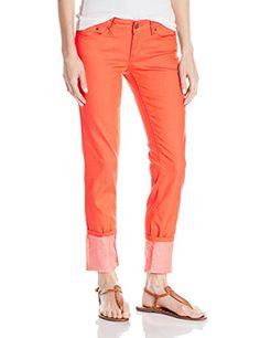 prAna Womens Kara Jean Pant Neon Orange Size 8 * For more information, visit image link.