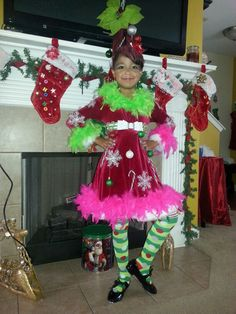 Whooville dress or costume, hair and makeup!! How the dancing grinch stole Christmas