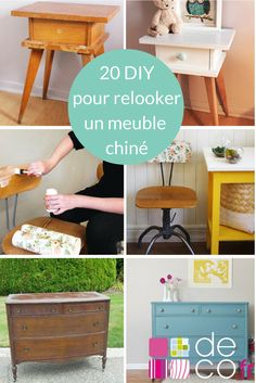 20 idées DIY pour relooker un meuble chiné - Upcycled Furniture, New Furniture, Furniture Makeover, Painted Furniture, Idee Diy, Furniture Restoration, Home Staging, Diy Home Decor, Diy And Crafts