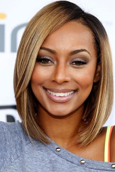Keri Hilson's Shoulder Length Angled Bob Haircut. Keri's got a new look, and it's a fashion forward angled bob haircut! The singer was seen at a The Bing Summer Of Doing At Osborn… Hair Styles 2014, Medium Hair Styles, Natural Hair Styles, Short Hair Styles, Hair Medium, Bob Styles, Medium Length Bobs, Medium Cut, Medium Bobs