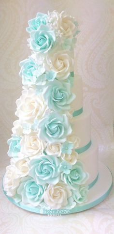 Beautiful pale blue and white More