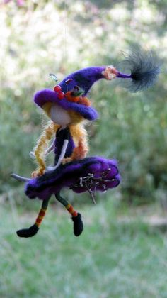 Halloween witch ornament mobile witch on by Made4uByMagic on Etsy