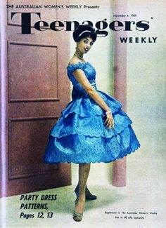 Party dresses in Teenager's Weekly, 1959. Another of those crazy teens...