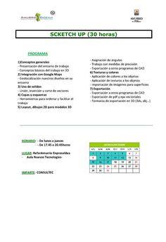 Amurrio Bidean  Curso Sketch Up  Fecha inicio: 01/12/14  Fecha fin: 17/12/14  Duración: 30 horas
