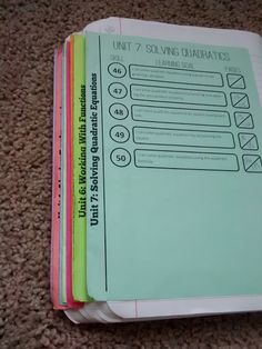 Math = Love: Interactive Notebook Dividers 2.0