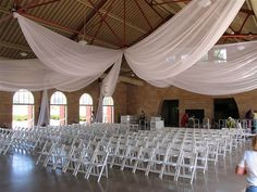 CEILING DRAPERY white...for weddings and by LamourEvents on Etsy, $89.00