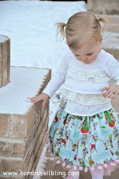 Pom Pom Twirly Skirt Tutorial