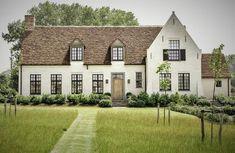 European House, Next At Home, Home Fashion, Exterior Design, Villa, Farmhouse, Black And White, Mansions, Architecture
