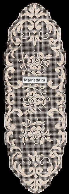 This Pin was discovered by Rut Crochet Placemats, Crochet Table Runner, Crochet Doily Patterns, Crochet Designs, Crochet Doilies, Crochet Stitches, Filet Crochet Charts, Crochet Cross, Crochet Art