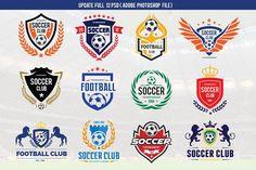 Soccer Logo Football logo collection by Vectorwins Premium Shop on @creativemarket