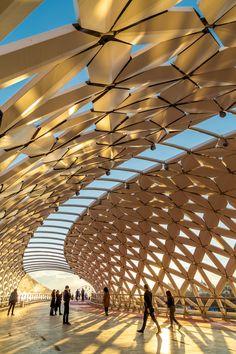 Pedestrian bridges of Nur-Sultan: Seruen, Karaotkel and Atyrau Bridges Architecture, Concept Architecture, Modern Architecture, Biomimicry Architecture, Ancient Architecture, Sustainable Architecture, Arch Bridge, Pedestrian Bridge, Landscape And Urbanism