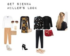 """GET SIENNA MILLER'S LOOK"" by caterineevita on Polyvore featuring Calvin Klein Collection, Monki, Lola Cruz, BP., Monsoon, Forever 21, Versace, M&Co, Proenza Schouler and Vince Camuto"