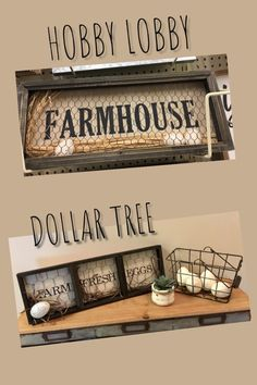 Check out how I made this DIY cheap and easy, yet adorable farmhouse eggs sign using Dollar Tree products! Dollar Tree Decor, Dollar Tree Crafts, Primitive Crafts, Wood Crafts, Chicken Wire Crafts, Starter Set, Country Crafts, Primitives, Farm House