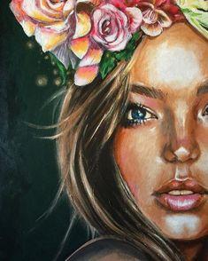 21 Must Known 2019 Tipps und Ideen für die Kunstmalerei - Acrylic Face Painting, Painting Of Girl, Painting Art, Painting Tips, Acrylic Art, Painting Tutorials, Paintings Tumblr, Modern Art Paintings, Portrait Art