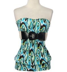 rue 21 clothing   Tribal Moldcup Tube with Belt $19.99 (Rue 21)