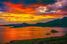 Montenegro (Budva) at sunset.