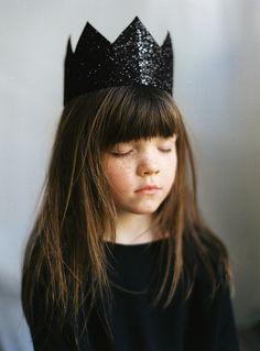 black glitter crown patkas kids  facebook
