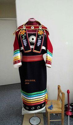 Traditional Ojibwe strap dress 2016