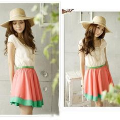Fashion Women's Dresses Colorful Stripes Party Mini Dress Club Wear Free Waist Belt