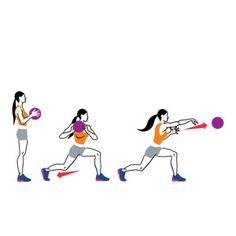 Medicine-Ball Reverse Lunge and Shot Put Fit Girl Motivation, Self Motivation, Fitness Motivation, Shot Put, Toning Workouts, Ball Workouts, Medicine Ball, Sports Mom, Track And Field