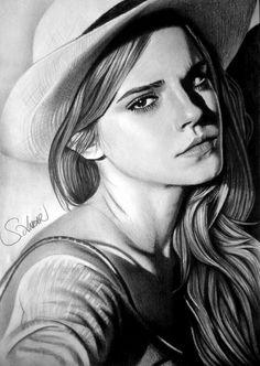 Kohlezeichnung Emma Watson – serkan anlar – Join the world of pin Portrait Au Crayon, L'art Du Portrait, Portrait Sketches, Pencil Portrait, Realistic Pencil Drawings, Amazing Drawings, Pencil Art Drawings, Art Drawings Sketches, Realistic Sketch