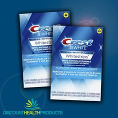 Noticeably whiter teeth in 10 days! Crest Whitestrips, Whitening Kit, White Teeth, 10 Days, Dental, How To Apply, Health, Health Care, Teeth