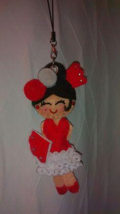 Colgante flamenca