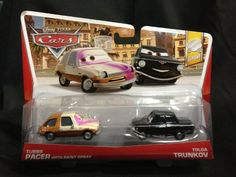 Disney/Pixar Cars Tubbs with Painted Face and Black Trunkov Diecast Vehicle, 2-Pack by Mattel. $24.95